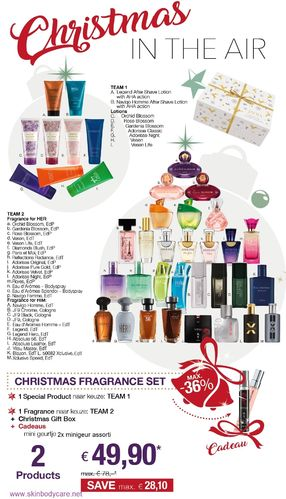 Christmas Fragnance Set in Christmas Gift Box + Cadeau: 2x minigeur